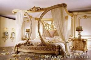 set kamar tidur mewah pengantin