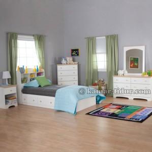 Set Tempat Tidur Kotak Dengan Laci Penyimpanan