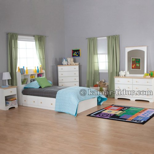 set tempat tidur kotak dengan laci penyimpanan untuk remaja ktar-004