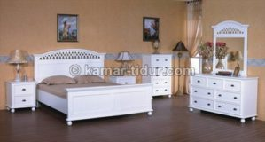 set tempat tidur minimalis kaki bulat