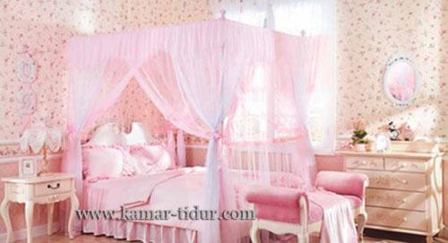 Desain Tempat Tidur Putri Kerajaan Untuk Kamar Tidur Anak Perempuan