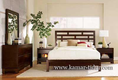 set tempat tidur minimalis bata kayu jati furniture