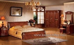 desain kamar tidur klasik kayu jati