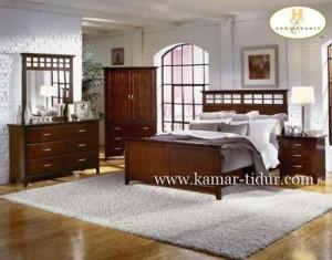 set kamar minimalis kayu jati