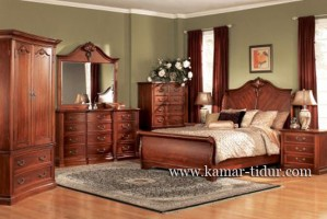set kamar tidur klasik kayu jati jepara