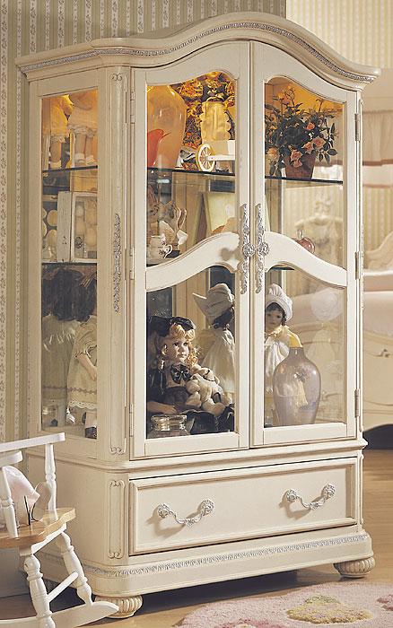 Cabinet Kaca 2 Pintu Model Curio