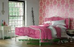 Desain Keren Kamar Tidur Anak perempuan Dengan Warna Putih dan jog warna pink
