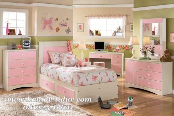 Set furniture kamar tidur anak cewek modern