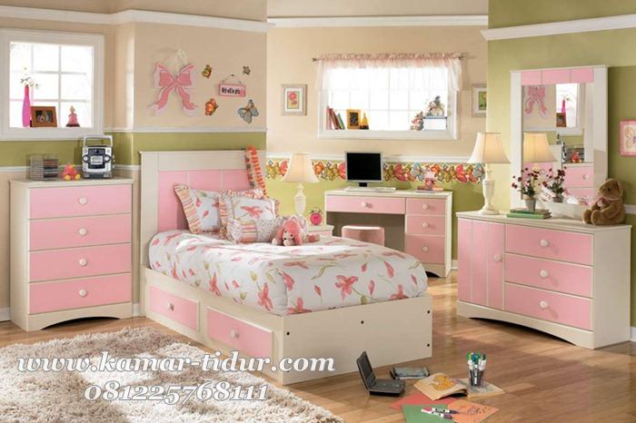 set furniture kamar tidur anak cewek modern furniture