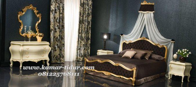 set tempat tidur pengantin simple tapi mewah
