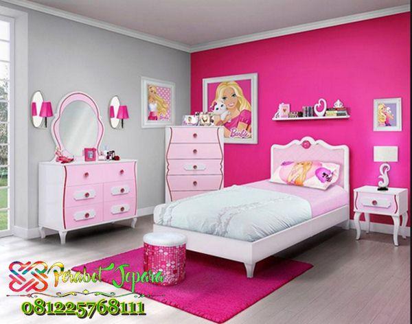 kamar tidur anak perempuan barbie jual set tempat tidur