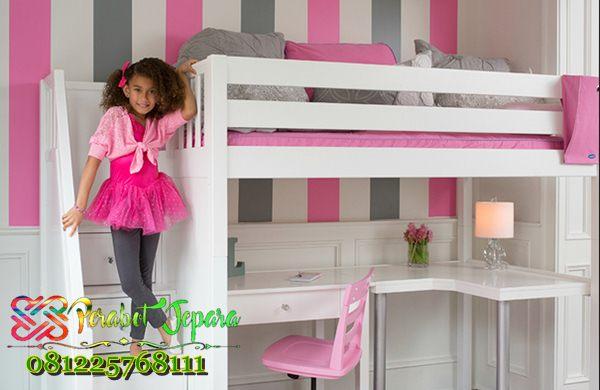 kamar tidur anak perempuan minimalis tingkat