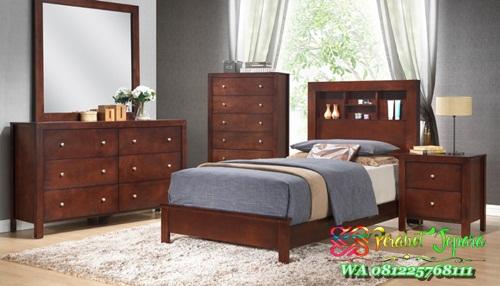 jual Set tempat tidur anak kayu jati ukuran 120 x 200 harga murah