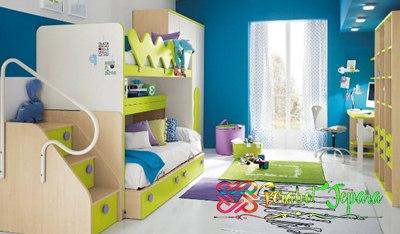 Kamar tidur anak Menggunakan Pencahayaan Yang Bagus
