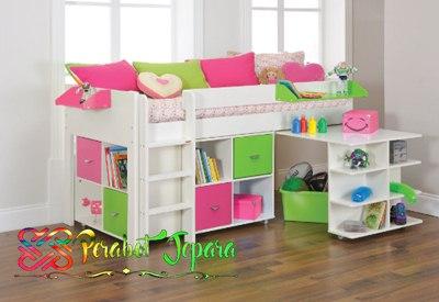 Menambahkan Berbagai Aksesoris di tempat tidur anak