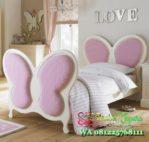 Model tempat tidur single kupu-kupu untuk anak perempuan