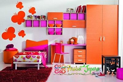 Penempatan Rak Dinding pada kamar anak