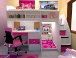 set tempat tidur anak desain bar