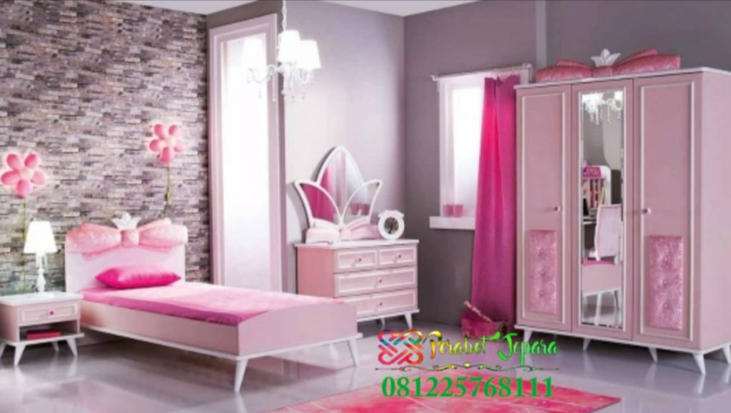 Tempat Tidur Anak Cat Duco Pink
